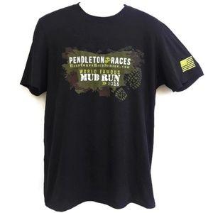 Pendleton Mud Run 2015 Race Black Men Tee T Shirt